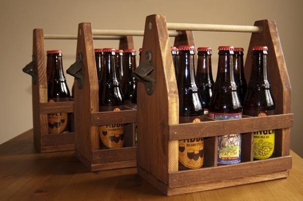 Carry Your Beer in Style with These DIY Wooden Six-Pack Holders