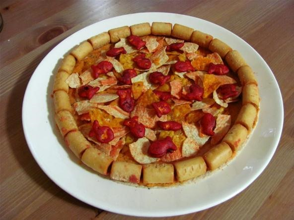 How to Make a Meta-Pizza from Pizza Flavored Snacks