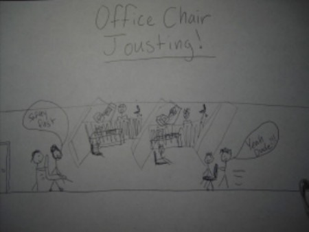 office chair jousting