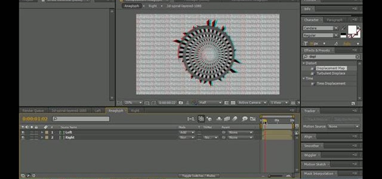 How to Use displacement mapping to create a stereoscopic animation Displacement Map After Effects on