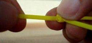 Unlock a zip tie