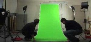 Use a green screen for a website spokesperson effect