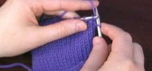 Knit a Continental style knit stitch