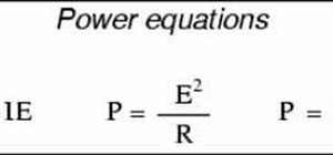 Calculate electrical power