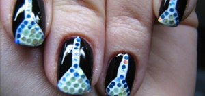Create a martini glass nail art manicure