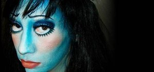 Create Tim Burton's Corpse Bride Halloween makeup look