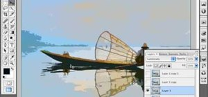 Simulate a watercolor painting in Photoshop