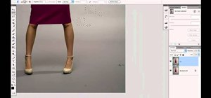 Clean up the background when retouching a fashion photo in Adobe Photoshop CS5