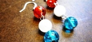 Make simple Fourth of July inspired earrings