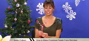 Make candy cane reindeer for Christmas