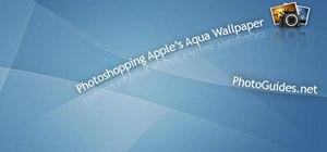 Create Apple's aqua wallpaper in Photoshop