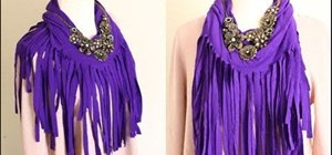Recycle your old clothes into a trendy fringe scarf