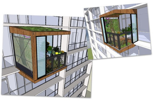 The Clip-On Apartment: a Green Solution for Suffocated Living