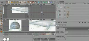 Create fins using the Extrude tool in MAXON Cinema 4D