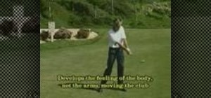 Do the stomach drill in golf