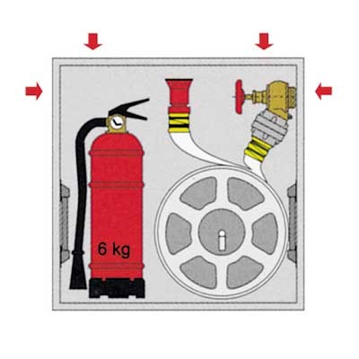 Fireman Fridge, microwave, and door/Johnny the fireman