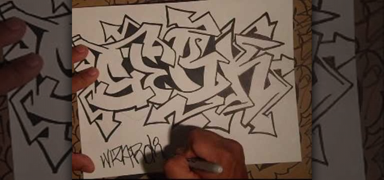 How to Draw a nice graffiti tag designed by Wizard � Graffiti ...