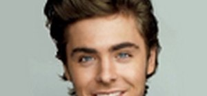 Make Zac Efron's head huge with Photoshop