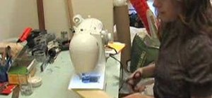 how to use a sewing machine to make a wig