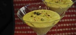 Make Shrikhand or saffron mango mousse for dessert