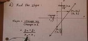Find the slope from a graph