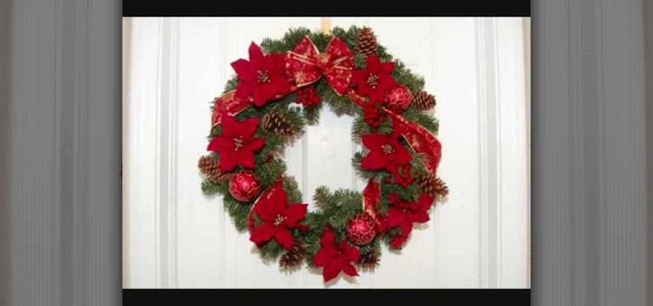 How To Make A Christmas Wreath With Poinsettias