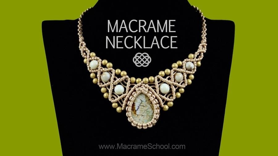 How to Macrame Necklace with Stone