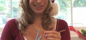 Make a candy cane Christmas reindeer