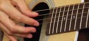 Play acoustic guitar and learn basic finger picking