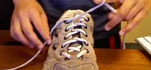 Tie shoe laces really really fast