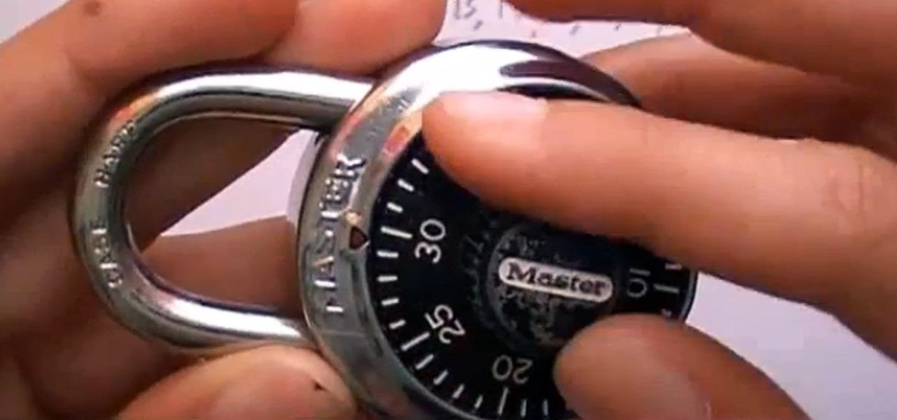 How to crack a master lock