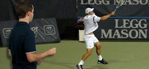 Practice forehand follow through in tennis