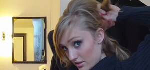 Create a quick and elegant updo hairstyle