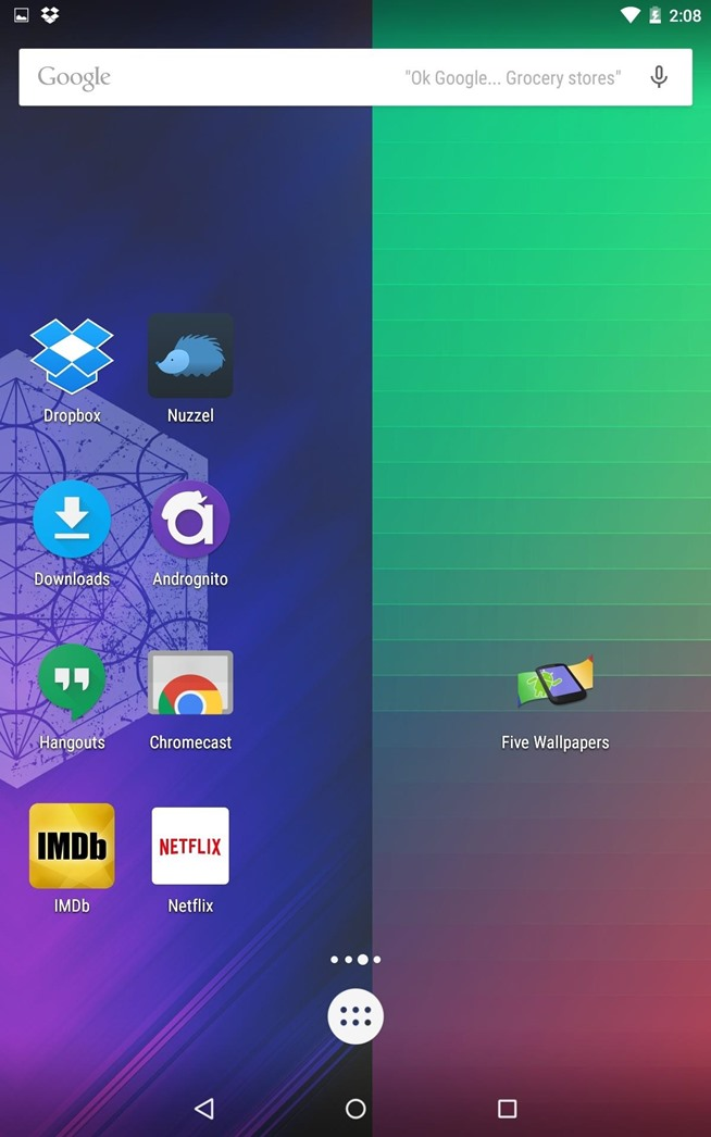 How to set different wallpapers for your home screen pages for Wallpaper home screen android