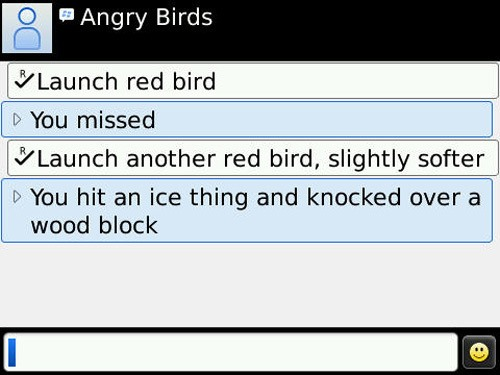 Angry Birds for the BlackBerry?