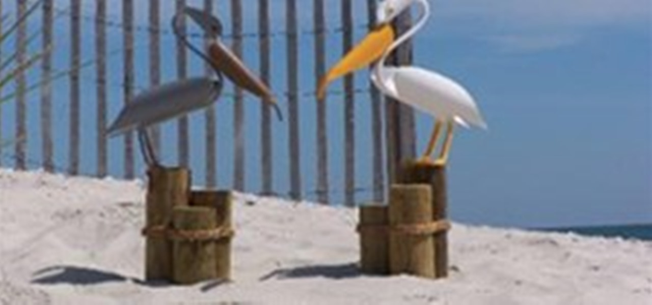 Bird art for the garden pvc innovation wonderhowto for How to make pvc pipe birds
