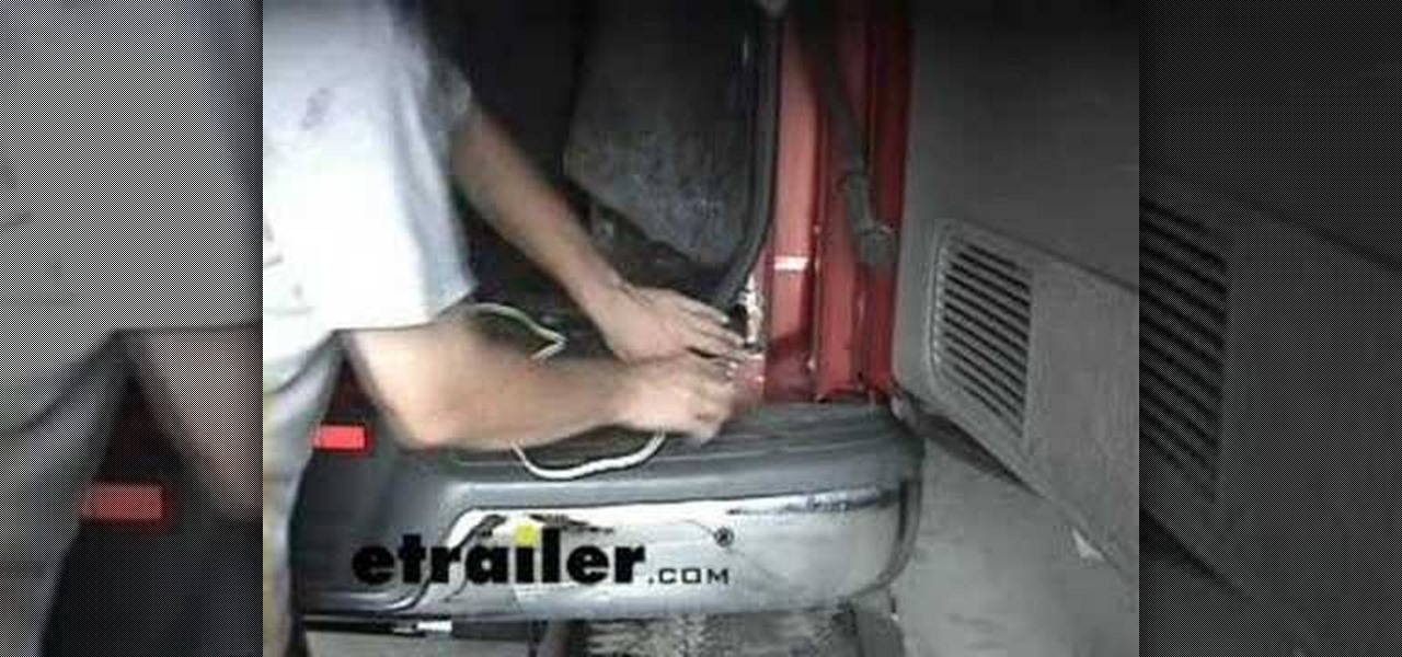 how to install a trailer wiring harness no tow package acirc car mods how to install a wiring harness on a chevy express van