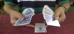 "Perform the ""fan change"" card trick"