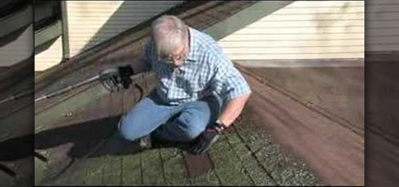 How to use a pressure washer to clean asphalt roof shingles construction repair wonderhowto - Using water pressure roof cleaning ...