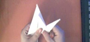 Make an origami crane from a sheet of printer paper
