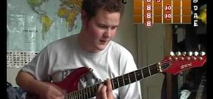 "Play ""Mud Football"" by Jack Johnson on electric guitar"