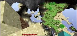 Get down from a floating island in Minecraft