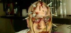 Create a deadbolt tortured Halloween makeup look