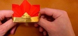 Origami a kabuto samurai helmet