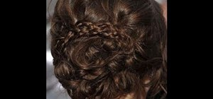 Create an Anna Kendrick inspired romantic curly bridal updo