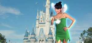 Make a cheap Tinkerbell costume from a T-shirt