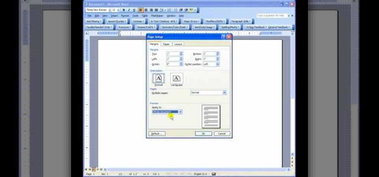 how to set up and format papers in mla style in microsoft word