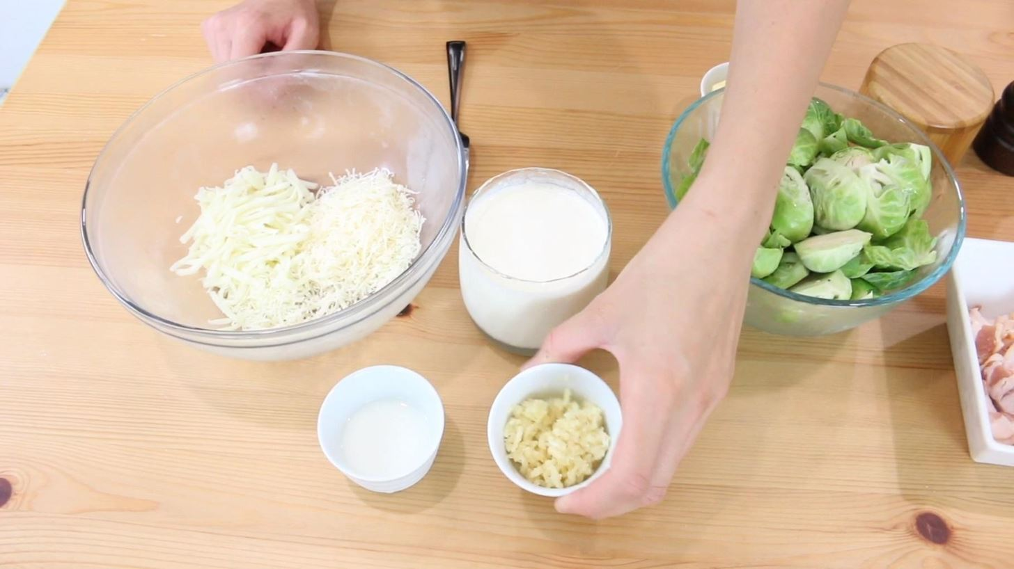 How to Make Cheesy Bacon Brussel Sprouts
