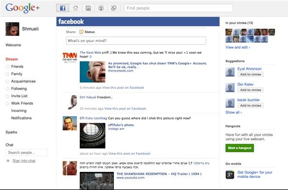 Add your Facebook stream to Google+