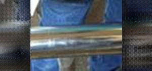 Polish a stainless steel roller using Autosol